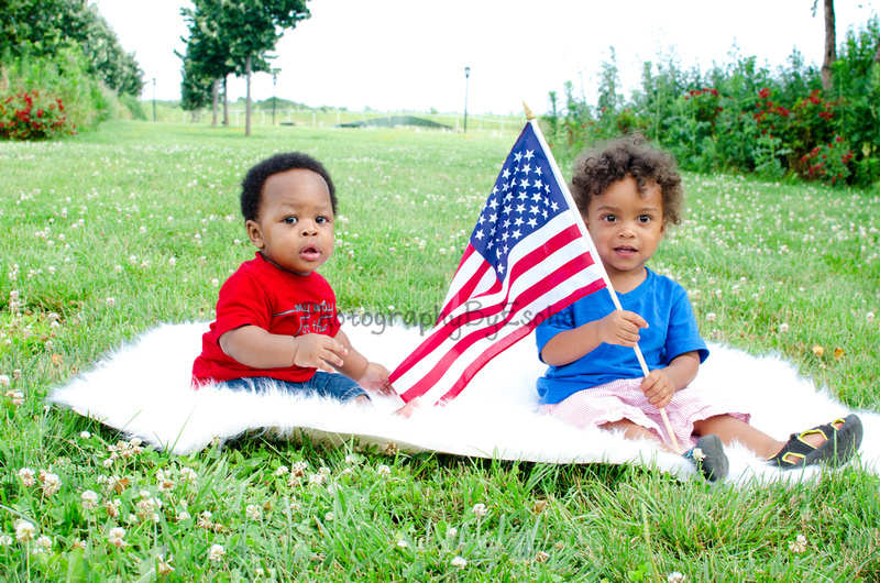 themed shoot, kids, fourth of July, Jersey City